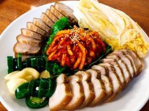 Bossam Sliced Pork Dish